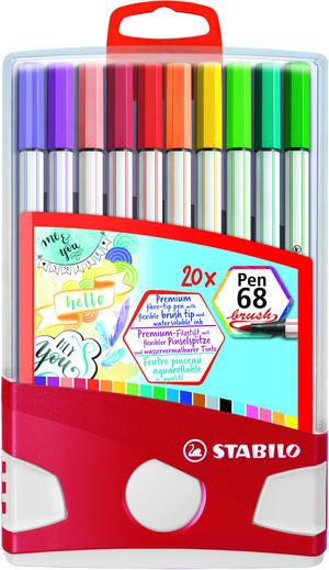 STABILO Pen 68 brush ColorParade of 20 picture