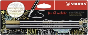 STABILO Pen 68 metallic fibre-tip pen - blister 2 - 1x silver & gold picture
