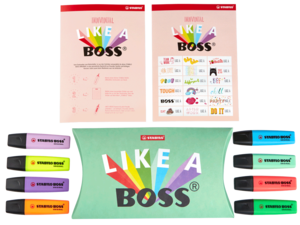 STABILO BOSS Original + Pastel with Stickers - Set of 8 assorted colours picture