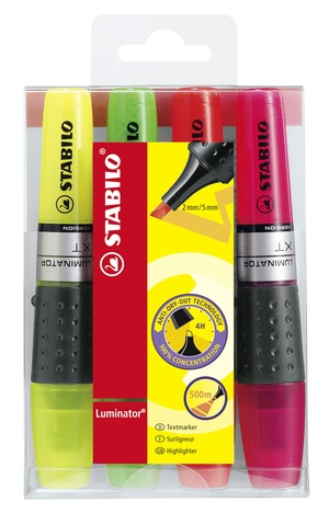STABILO LUMINATOR highlighter - wallet of 4 colors picture
