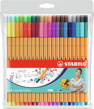 STABILO point 88 fineliner - wallet of 40 colours picture