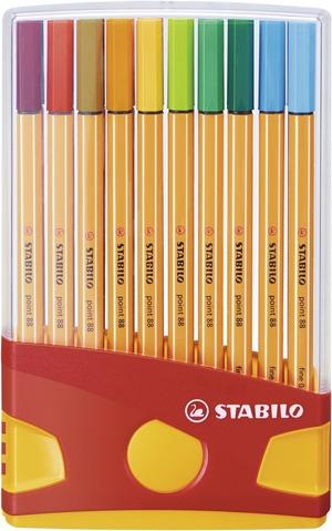 STABILO point 88 fineliner - colorparade deskset of 20 colours picture