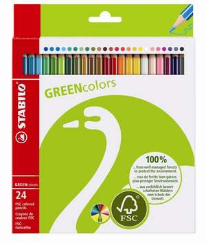STABILO GREENcolors FSC-certified coloured pencil cardboard wallet of 24 colours picture