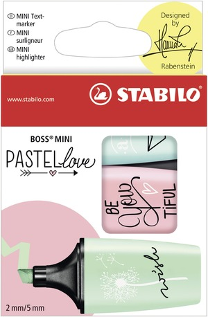 STABILO BOSS MINI Pastellove wallet of 3 picture