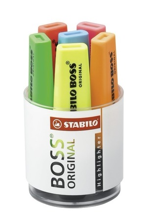STABILO BOSS ORIGINAL highlighter round desk set with 6 colours picture