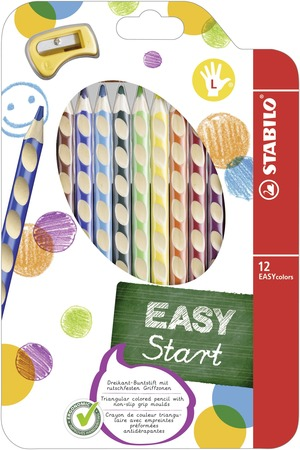 STABILO EASYcolors ergonomic coloured pencil left handed - wallet of 12 colours picture