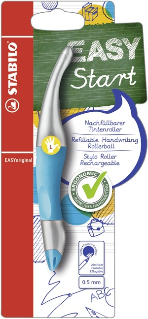 STABILO EASYoriginal metallic ergonomic rollerball left handed - blue picture