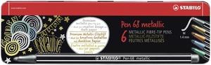 STABILO Pen 68 metallic fibre-tip pen - metal tin 6 picture