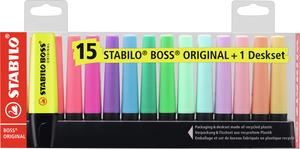 STABILO BOSS ORIGINAL Desk Set 15pc picture