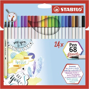 STABILO Pen 68 brush card wallet of 24 picture
