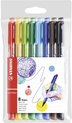 STABILO pointMAX premium fineliner - wallet of 8 colours picture