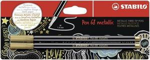 STABILO Pen 68 metallic fibre-tip pen - blister 2 gold picture