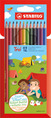 STABILO Trio triangular coloured pencil cardboard wallet of 12 colours