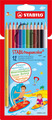 STABILOaquacolor, aquarellable coloured pencil, cardboard wallet of 12 colours