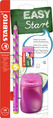 EASYgraph School Set Left handed pink set (1 EASYgraph pencil, EASYsharpener and EASYeraser)