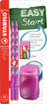 EASYgraph S School Set Right handed pink set (2 EASYgraph S pencils, 1 EASYsharpener and EASYeraser)