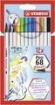 STABILO Pen 68 brush card wallet of 12