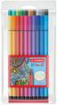 STABILO Pen 68 premium fibre-tip pen plastic wallet of 20 colours