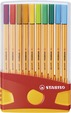 STABILO point 88 fineliner - colorparade deskset of 20 colours