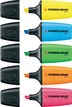 STABILO BOSS MINI highlighter - pack of 5 colours (yellow, blue, pink, green, orange) additional picture 1