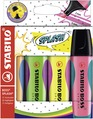 STABILO BOSS SPLASH Highlighter wallet of 4 colours