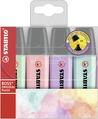 STABILO BOSS ORIGINAL Pastel highlighter - wallet of 4 colours