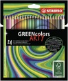 STABILO GREENcolors FSC-certified coloured pencil cardboard wallet of 12 colours - ARTY version