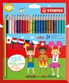 STABILO color, coloured pencil, cardboard wallet of 12 colours
