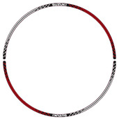 Front Wheel Decal (Red/White V1)