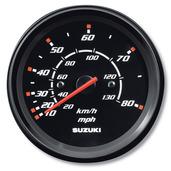 "4"" Speedometer 80 mph - Black"