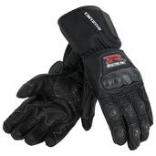 GSX-R Leather Gauntlet Gloves, Black