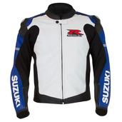 GSX-R Leather Jacket, Blue/White
