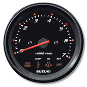 "4�"" Tachometer with Monitor Gauge - Black"