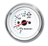 """2"""" Water Pressure Gauge (15psi) - Black"""
