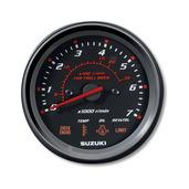 "4"" Tachometer with Suzuki Troll Mode Scale - Black"