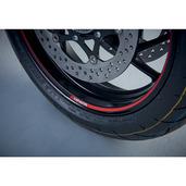 Red Suzuki Rim Decals