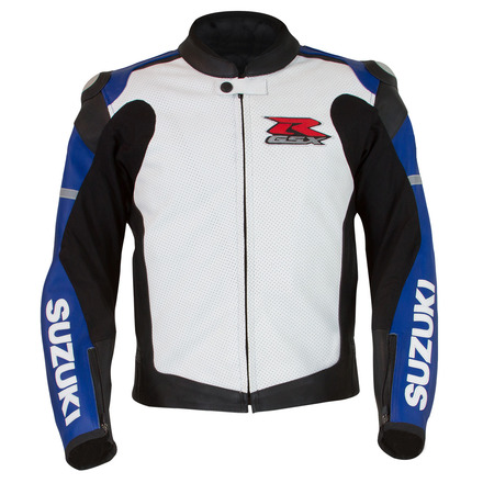 GSX-R Leather Jacket, Blue/White picture