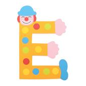 Crazy Clown Letter E ((Orange) Spots)