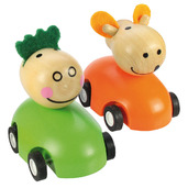 Pull Back Racing Animal (Pack of 2 - Green and Orange)