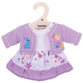 Lilac Dress and Cardigan (for 34cm Doll)