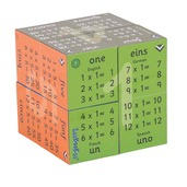 1 - 12 Times Tables Cubebook (English French German & Spanish)