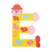 Crazy Clown Letter E ((Yellow) Flowers)