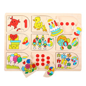Picture and Number Matching Puzzle