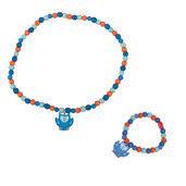 Owl Bracelet and Necklace (Blue Owl)