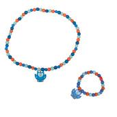 Owl Bracelet and Necklace (Blue Owl)