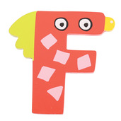 Crazy Bird Letter F (Red)