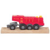 Big Red Steam Battery Operated Locomotive
