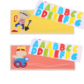 Name Plaque (Pirate) (Pack of 2 - Orange and Yellow)