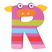 Crazy Animals Letter R (Purple Pig)