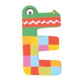 Crazy Animals Letter E (Green Crocodile)